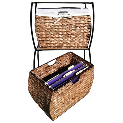 Pangaea Home and Garden Seagrass Rattan 4 Drawer Basket Storage File Cabinet