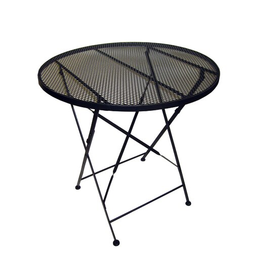 Round Iron Folding Patio Dining Table