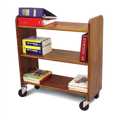 Catskill Craftsmen, Inc. Library Book Truck in Walnut