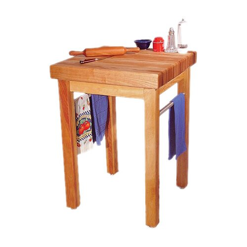 Catskill Craftsmen, Inc. French Country Prep Table with Butcher Block Top