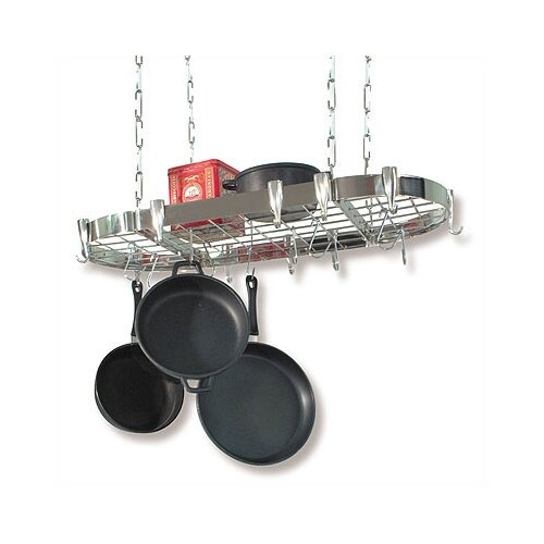 Concept Housewares Oval Steel Hanging Pot Rack