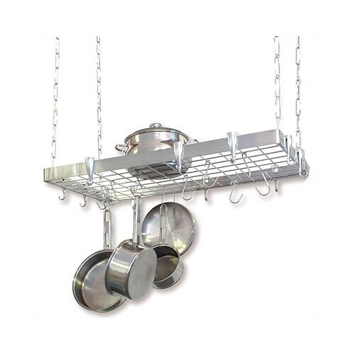 Concept Housewares Rectangular Steel Hanging Pot Rack