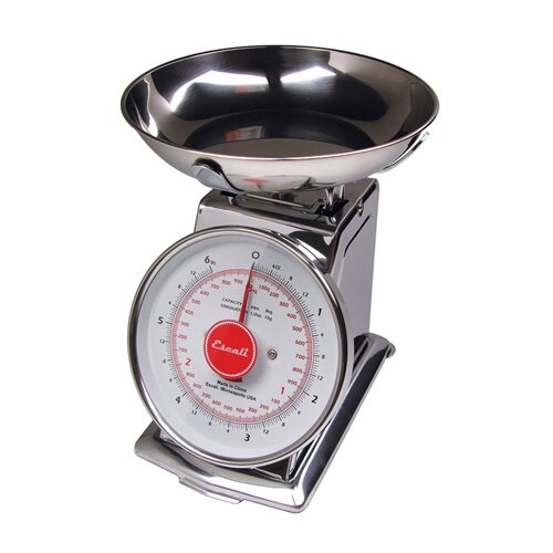 Escali Mercado 11lbs Dial Scale with Bowl