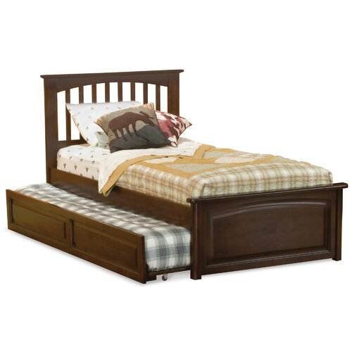 Atlantic furniture brooklyn platform bed with trundle in for Furniture 2 day shipping