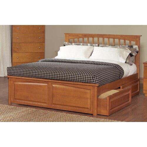 Atlantic furniture brooklyn platform bed with raised panel for Raised platform bed
