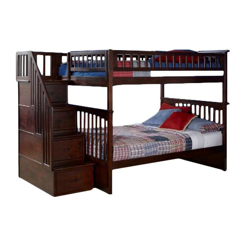 Atlantic furniture columbia twin over full storage Whats bigger full or twin