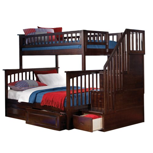 Atlantic Furniture Columbia Storage Bunk Bed With Staircase Reviews Wayfair