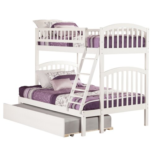 Atlantic furniture richland twin over full bunk bed with Whats bigger full or twin