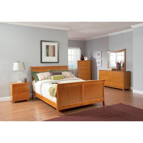 Atlantic Furniture Bordeaux Sleigh Bed