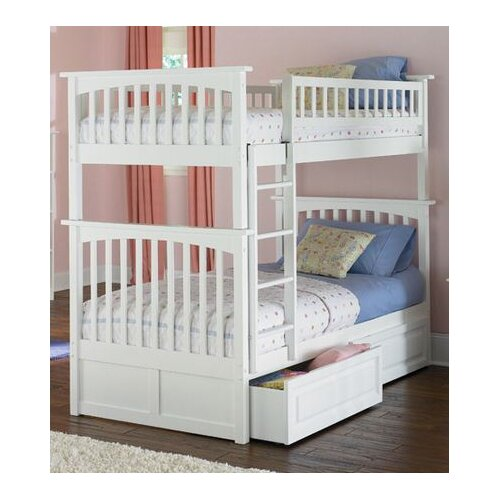 Atlantic Furniture Columbia Bunk Bed with Raised Panel Drawers