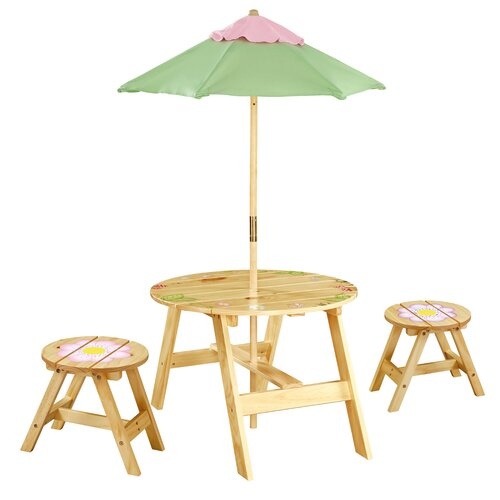 Magic Garden Kids' 4 Piece Table and Chair Set