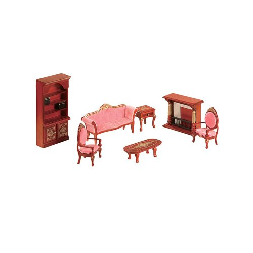 Teamson Kids Child Accessories 7 Piece Living Room Set