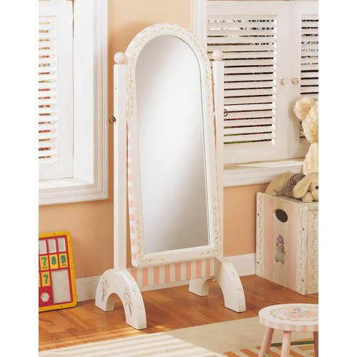 "Teamson Kids Bouquet 51"" H x 20"" W Girl's Standing Mirror"