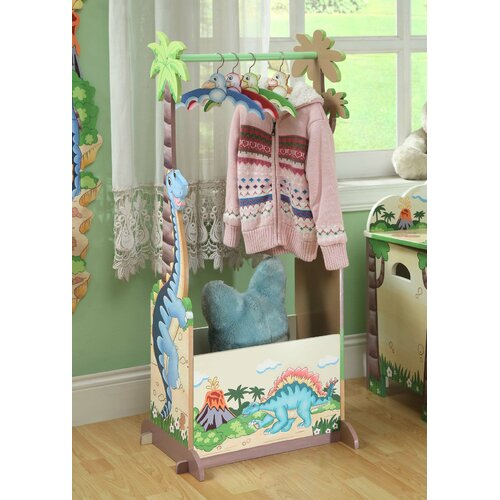 Dinosaur Kingdom Children's Storage Coat Rack