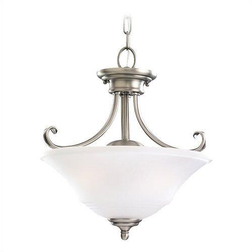 Sea Gull Lighting Parkview 2 Light Convertible Inverted Pendant