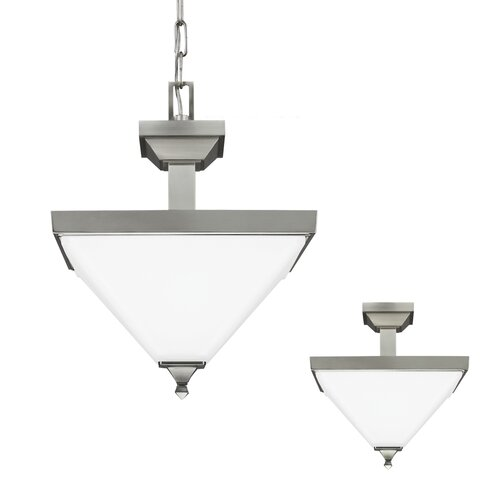 Denhelm 2 Light Bowl Pendant