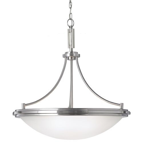 Winnetka 4 Light Bowl Pendant with Fluorescent Bulbs