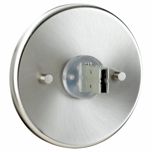 Sea Gull Lighting Direct End Power Feed Canopy in Brushed Stainless
