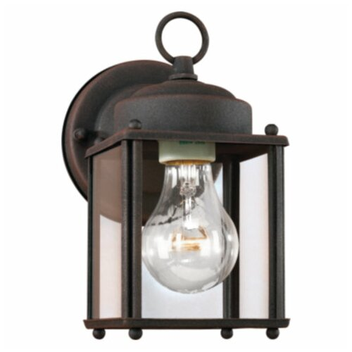 Sea Gull Lighting Outdoor 1 Light Square Wall Lantern
