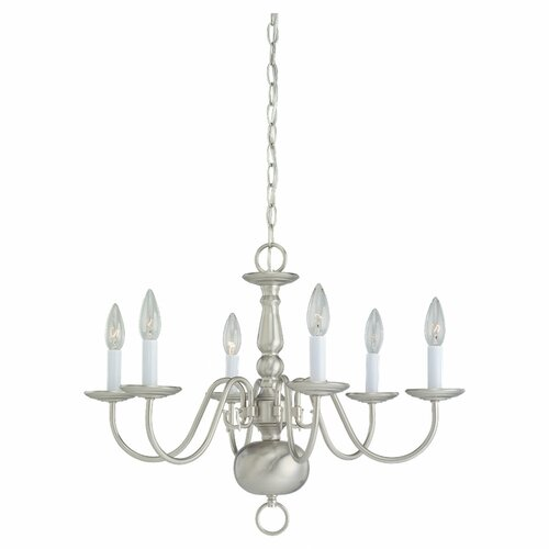 Sea Gull Lighting 6 Light Chandelier