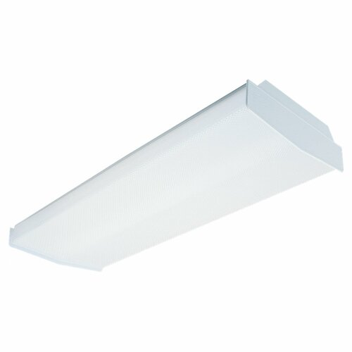 Complete 4 Light Fluorescent Linear Fixture - Ener