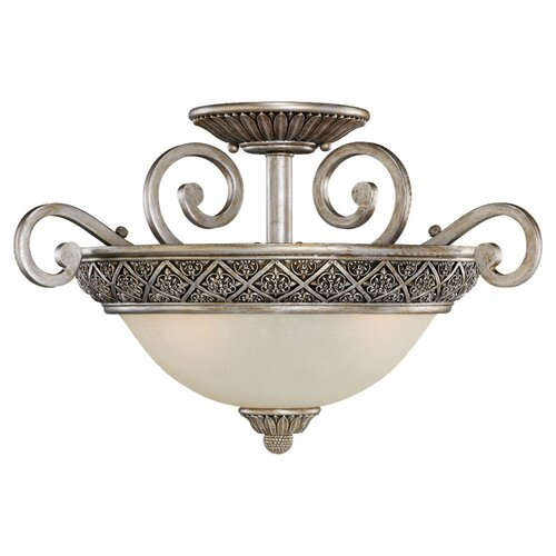 Sea Gull Lighting Highlands 3 Light Semi Flush Mount