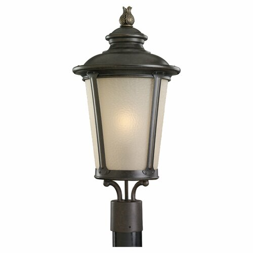 Sea Gull Lighting Cape May Post 1 Light Outdoor Wall Lantern