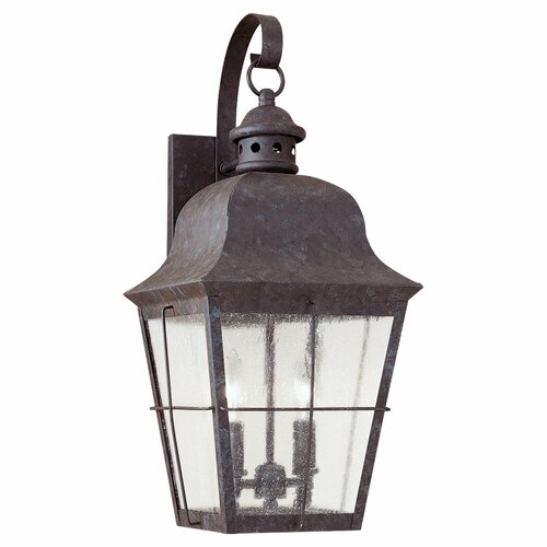 Sea Gull Lighting Colonial Styling 2 Light Outdoor Wall Lantern