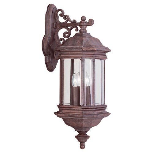 Sea Gull Lighting Hill Gate 3 Light Outdoor Wall Lantern