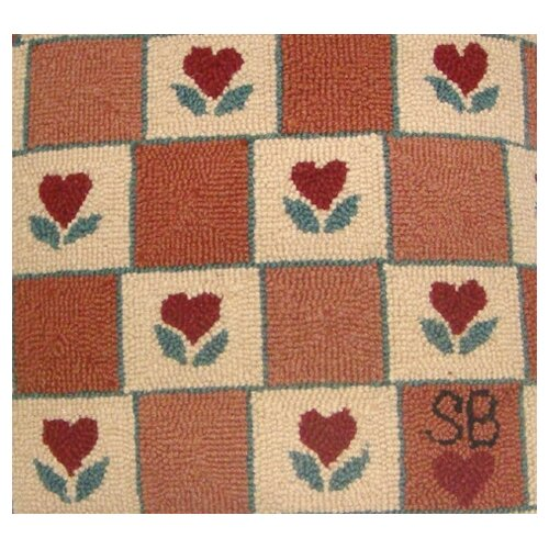 Susan Branch Home Heart in Hand Square Pillow