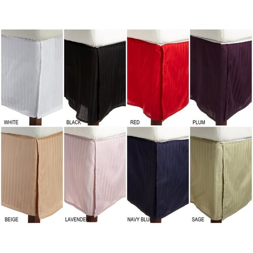 300 Thread Count Egyptian Cotton Stripe Bed Skirt