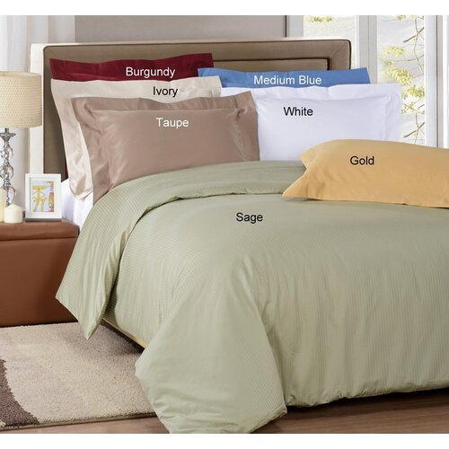 1000 Thread Count Stripe 3 Piece Stripe Duvet Cover Set