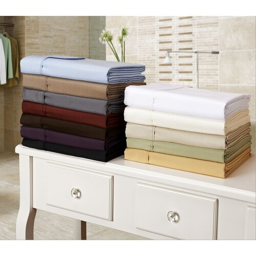 Simple Luxury Vanessa Collection Microfiber Solid Pillowcase Pair