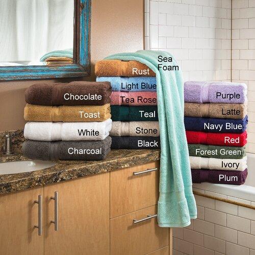 Simple Luxury Superior 900 GSM Egyptian Cotton 2-Piece Bath Towel Set