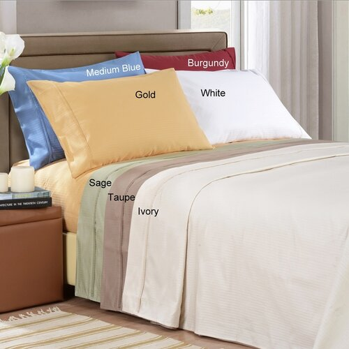 Simple Luxury 1000 Thread Count Egyptian Cotton Stripe Sheet Set