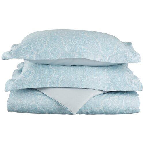 Impressions Italian Paisley 600 Thread Count Wrinkle Resistant Cotton Blend Duvet Cover Set