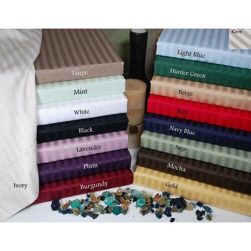 Simple Luxury 300 Thread Count Egyptian Cotton Stripe Duvet Cover Set