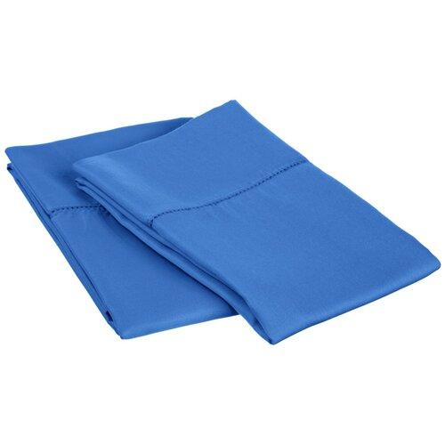 Classic Hemstitch Cotton Rich 600 Thread Count Pillowcase Pair (Set of 2)