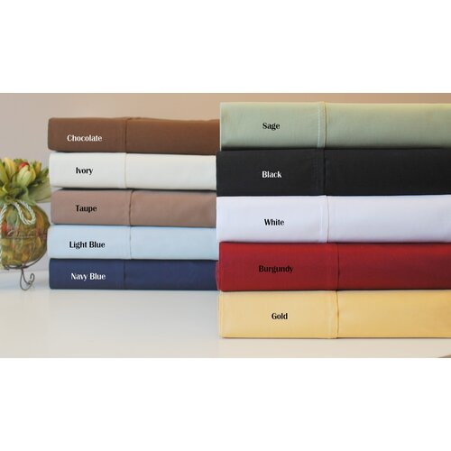 Simple Luxury 530 Thread Count Egyptian Cotton Solid Sheet Set
