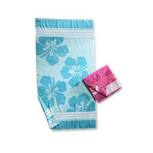 Simple Luxury Hawaiian Flower Beach Towel