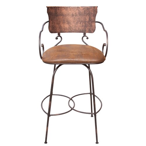 "Artisan Home Furniture Hand Forged 30"" Swivel Bar Stool"