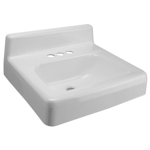 Zurn Wall Mounted Bathroom Sink with Backsplash