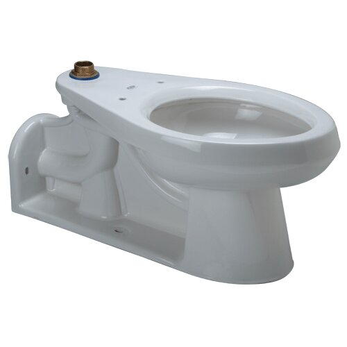 Floor Mounted 1.6 GPF Elongated Toilet Bowl Only with Back ...