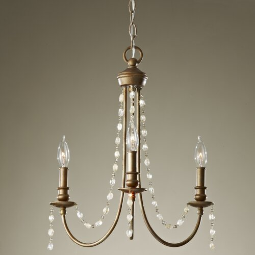Feiss Aura 3 Light Chandelier