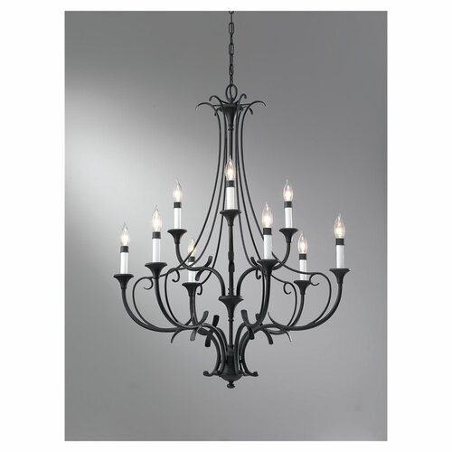 Feiss Peyton 9 Light Chandelier