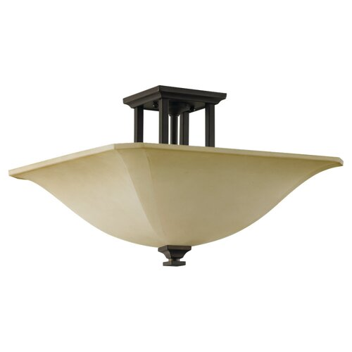 Feiss American Foursquare Semi Flush Mount