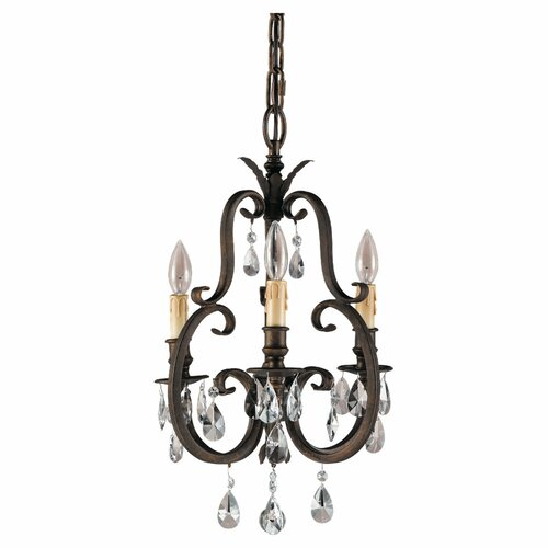 Feiss Salon Ma Maison 3 Light Mini Chandelier