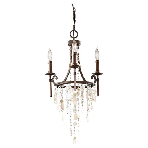 Feiss Cascade 3 Light Mini Chandelier