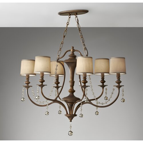 Feiss Clarissa 6 Light Chandelier