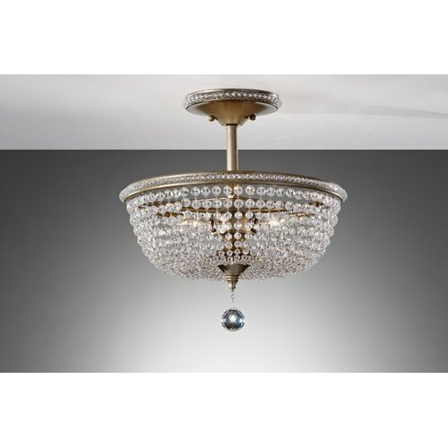 Feiss Dutchess 3 Light Semi Flush Mount